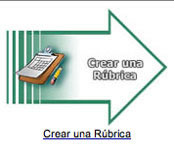 "This is a picture of the green arrow that has text inside it saying ""Make a New Rubric""."